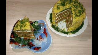 Печеночный тортик на праздничный стол