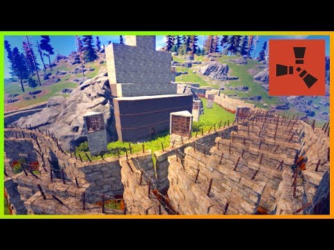 Rust Raids: STRONG ARCH ROCK DESIGN | ABUNDANCE of TURRETS