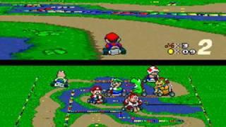 Super Mario Kart Playthrough - Special Cup: Donut Plains 3