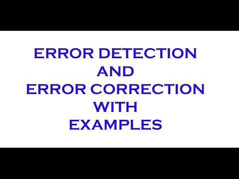ERROR DETECTION AND CORRECTION IN COMPUTER NETWORK