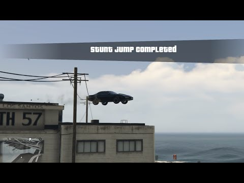 GTA V Knight Rider Kitt All Stunt Jump