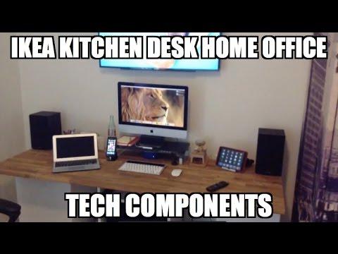 Ikea Kitchen Desk Hack (Part 2) - Components of Home Office/Entertainment Center)