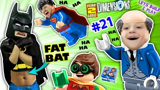 Repeat youtube video FAT LEGO BATMAN? Movie Game! Alfred Shrinks Bat Suit (Let's Build & Play LEGO Dimensions YEAR 2 #21)