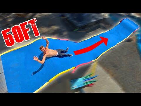 Built Slip N Fly In Backyard Waterpark!