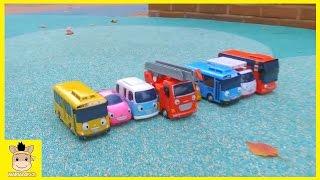 Tayo the Little Bus Friends sliding & Parking Garage | MariAndKids Toys