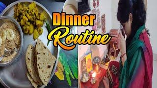 लौट आई वापस  ससुराल~Indian Dinner routine~Quick & Simple Dinner~Potato fry~सूखे आलू और पराठे