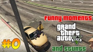 GTA 5 Funny Moments And Stunts Смешные моменты и трюки
