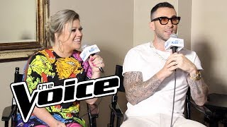 Adam Levine & Kelly Clarkson Talk Kelly's Win Last Season & The Return Of The Block Button  & More!