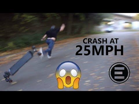 Electric Skateboard Crash (Evolve GT Accident)