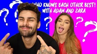 WHO KNOWS EACHOTHER BEST?!! MR & MRS CHALLENGE WITH ADAM AND ZARA