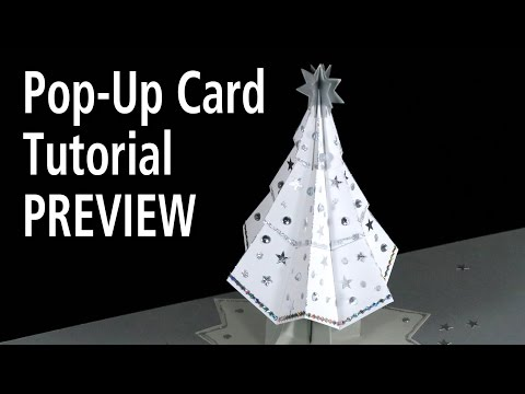 Christmas Tree Pop-Up Card Tutorial PREVIEW