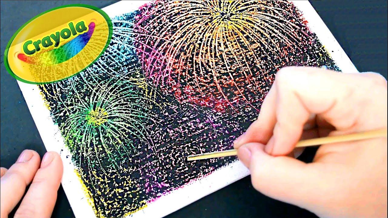 Diy crayon fireworks fuegos artificiales con crayones scratch diy crayon fireworks fuegos artificiales con crayones scratch art youtube solutioingenieria Image collections