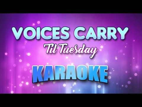 'Til Tuesday - Voices Carry (Karaoke & Lyrics)