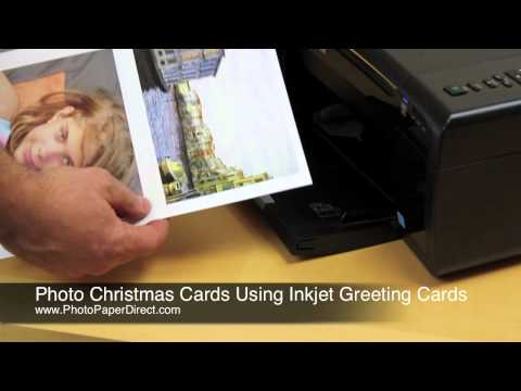 Making Photo Christmas Cards Using Inkjet Greeting Cards