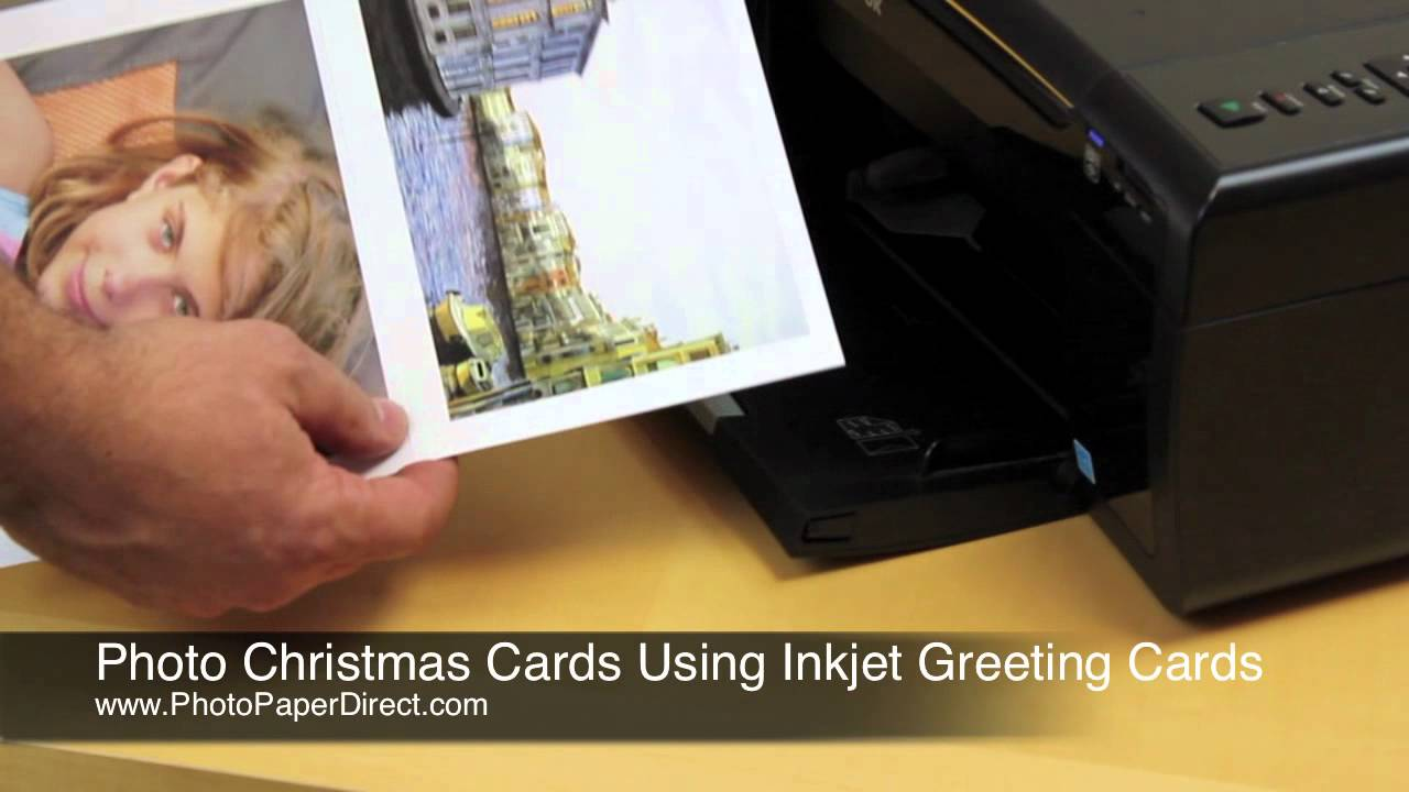 Making Photo Christmas Cards Using Inkjet Greeting Cards Youtube