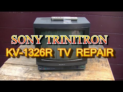 Sony Trinitron KV 1326 Repair and Remote Control Repair 1987 Color Television