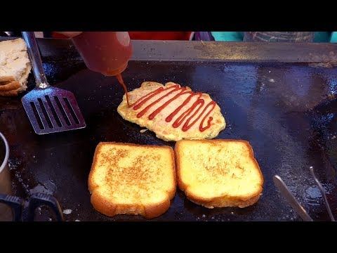 49years Tradition $1.3 Egg Toast – Korean Street Food / GwangJang Market
