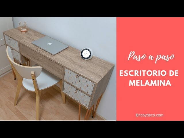 Cómo hacer un Escritorio de Melamina con Patas de Horquilla | BRICOLAJE  CON ALEXA ESPAÑOL