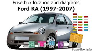 [DHAV_9290]  Fuse box location and diagrams: Ford KA (1997-2007) - YouTube | Ford Ka Fuse Box Diagram 2003 |  | YouTube