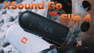Tribit XSound Go vs. JBL Flip 4 | Klangvergleich | Rabatt Code | deutsch | 2018