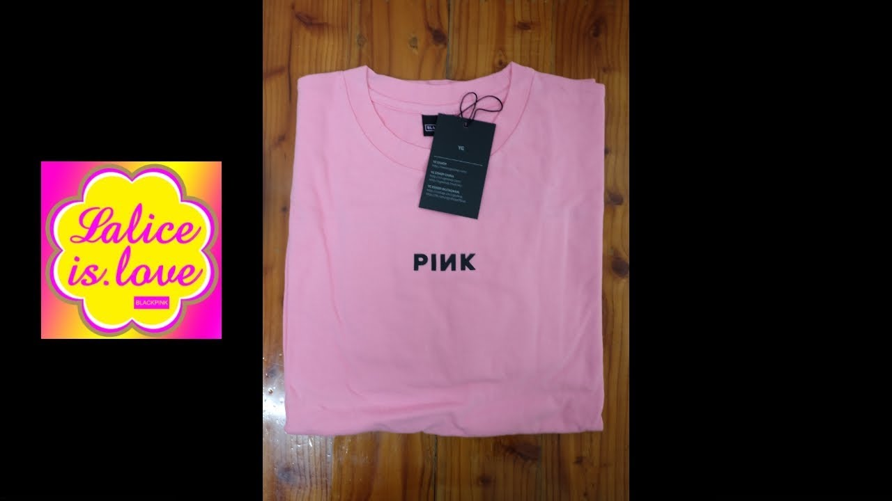 86c5bfb4 UNBOXING] BLACKPINK LONG SLEEVE T-SHIRTS PINK