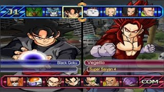 dragon ball z budokai tenkaichi 3 black goku vs vegetto ssj4 red potara 1080p
