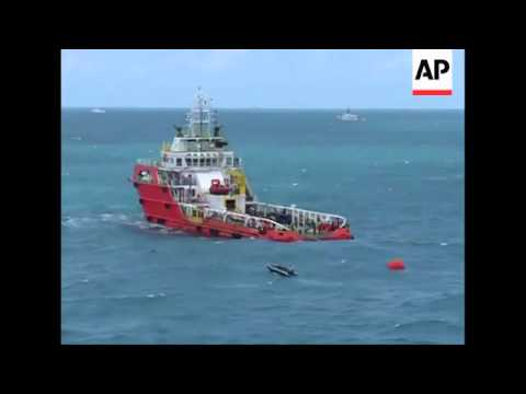 4:3 Tail Section Of Crashed AirAsia Plane Being Towed By Recovery Craft, Clean Pictures