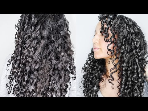 My LONG Curly Hair Routine Ft. Kinky Curly