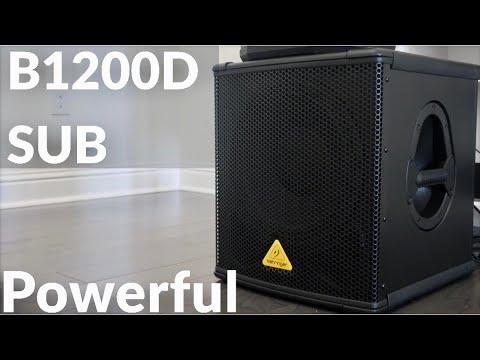 behringer b1200d pro 500 watt 12 pa subwoofer review audio sound demo test youtube. Black Bedroom Furniture Sets. Home Design Ideas