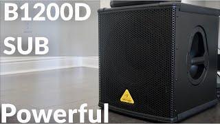 "BEHRINGER B1200D-PRO 500-Watt 12"" Pa Subwoofer REVIEW & Audio Sound Demo Test"