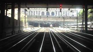 REAR VIEW FOOTAGE - Amtrak Regional Leaving Penn Station