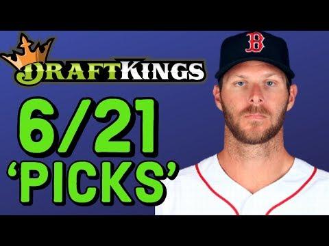 DRAFTKINGS MLB PICKS FRIDAY 6/21 PICKS   MLB DFS PICKS STRATEGY