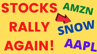 Stocks continue to rally ! (AAPL SNOW AMZN) 2021