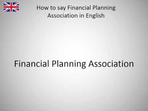 How to say Financial Planning Association in English?