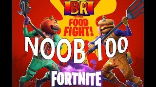 Fortnite Food Fight Am Getting Good At This??? ( NOOB LvL Over 9,000 ) LIVE STREAM
