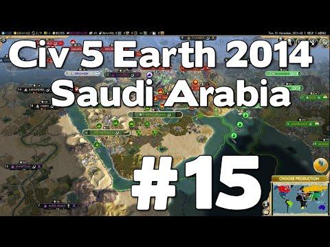 Let's Play Civ 5 Saudi Arabia Earth 2014 #15
