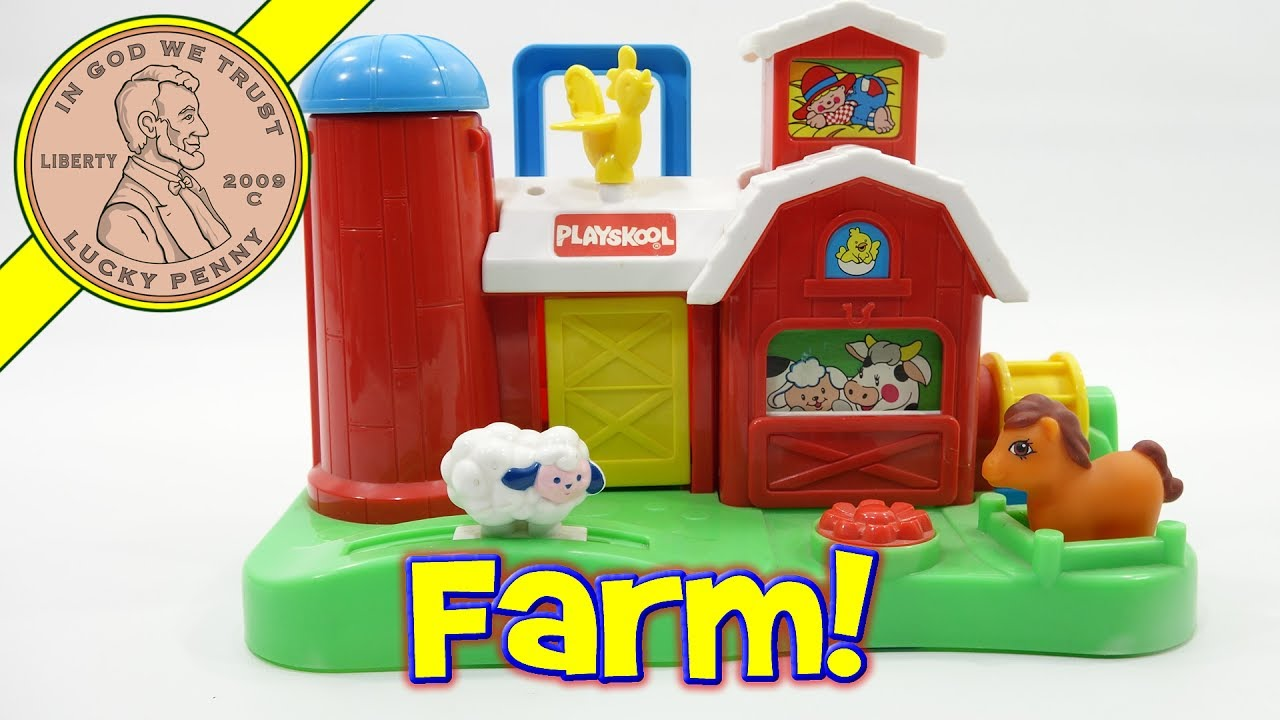 Farm Toddler Toys Age Two : Playskool barn with farmer animals busy farm toddler toy
