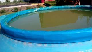 Надувной Бассейн INTEX 4,54 x 1,22 РЕМОНТ и уход за водой. Надувной круг бассейна вторая жизнь