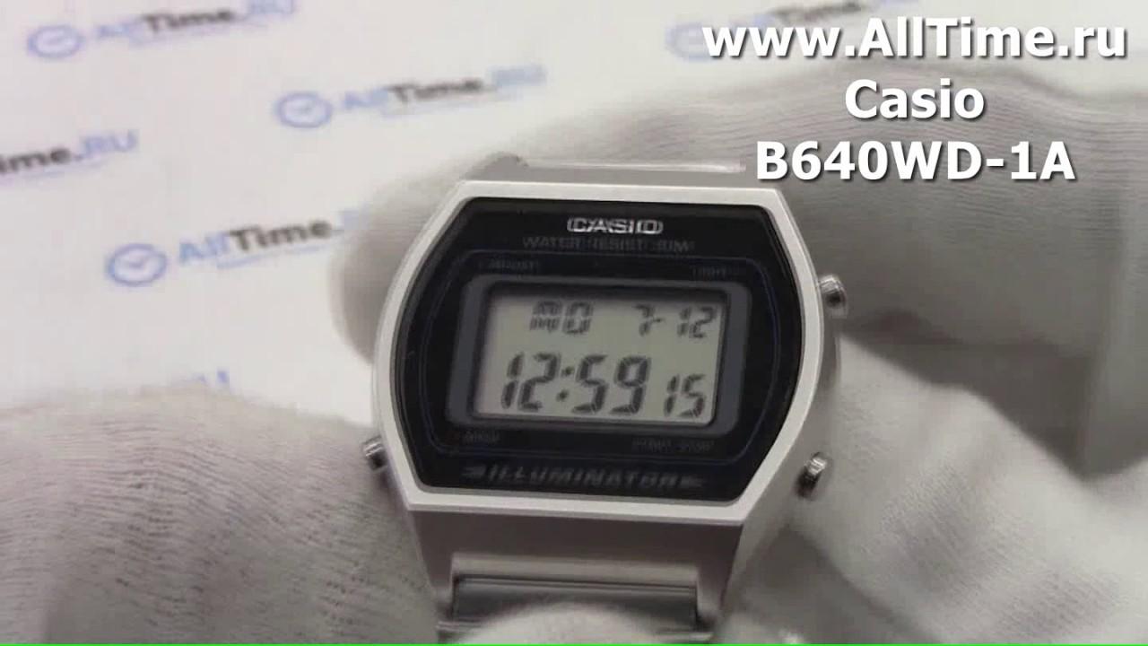 Мужские часы Casio B640WD-1A Женские часы Boccia Titanium 3264-04