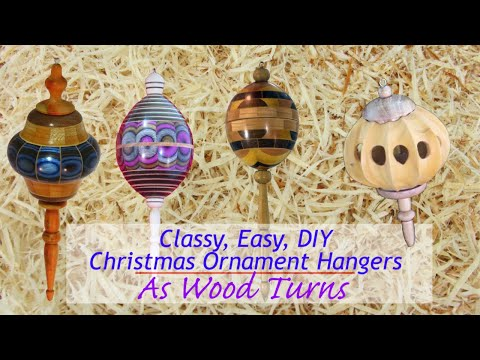 Classy, Easy, DIY Christmas Ornament Hangers