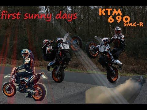 first sunny days - KTM 690 SMC-R / SWM SM 500R / Supermoto / Wheelies / Friends