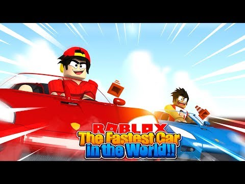 ROBLOX - DRIVING THE FASTED CAR IN THE WORLD!!
