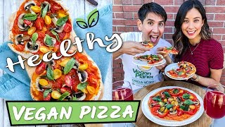 VEGAN PIZZA RECIPE! HEALTHY & EPIC
