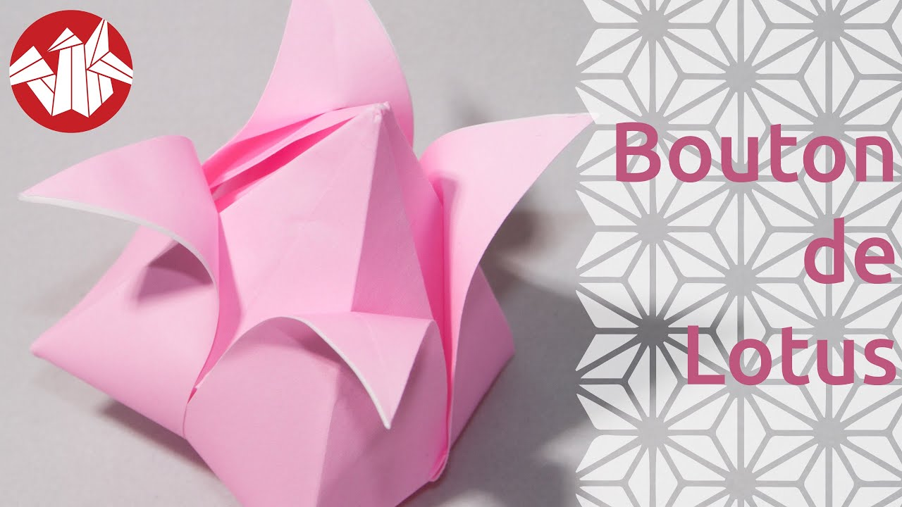 Origami Bouton De Lotus Lotus Bud Hd Senbazuru Youtube