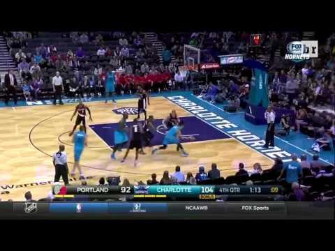 Jeremy Lin 2 Assist to Jeremy Lamb Lamb and Al Jefferson | Hornets vs Blazers | November 15, 2015