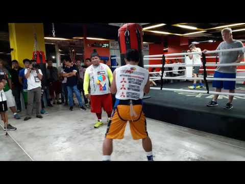 Manny Pacquiao heavy bag 9/28/16