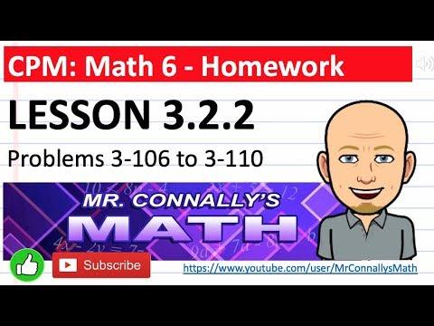 Mr. Connally's Math: CPM Math 6 - Lesson 3.2.2 HW