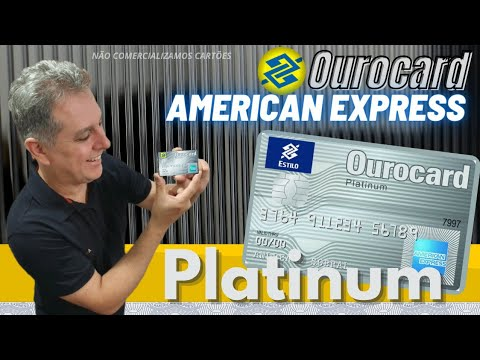 💳AMERICAN EXPRESS PLATINUM CREDIT DO BANCO DO BRASIL VALE A