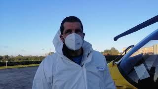 Emergenza Covid19. Gli ammalati gravi in eliambulanza dal nord Puglia al Salento