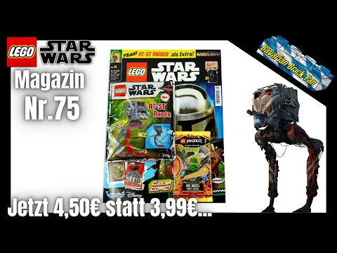 LEGO Star Wars Magazin Nr.75 mit At-St Raider als Extra |  Review+Unboxing